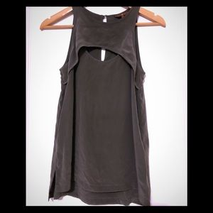 7 For All Mankind | Silk Keyhole Tank Top